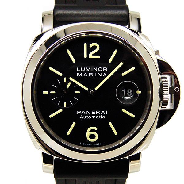 パネライ PANERAI ルミノールマリーナ 44mm PAM00104 自動巻 SS ブラック ラバーベルト Q番 USED 中古