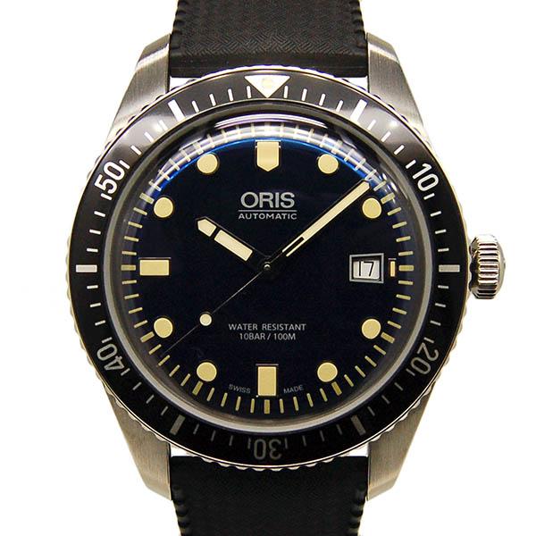 オリス ORIS ダイバーズ65 733 7720 4055R ブルー 42mm SS ラバーベルト USED 中古
