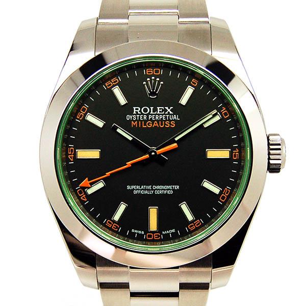 ロレックス ROLEX ミルガウス 116400GV グリーンガラス ブラック ランダム番 国内正規 未使用品