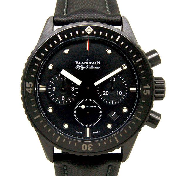 ブランパン BLANCPAIN フィフティファゾムス バチスカーフ フライバック クロノグラフ 5200-0130-B52A 43.6mm ブラック セラミック USED 中古
