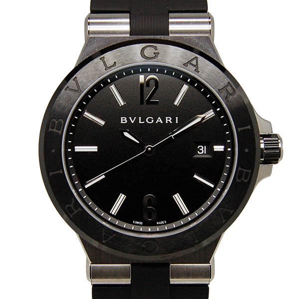 ブルガリ BVLGARI ディアゴノ セラミック DG42BSCVD 42mm メンズ 自動巻 ブラック ラバー USED 中古