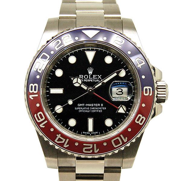 ロレックス ROLEX GMTマスター2 Ref.116719BLRO 18KWG 赤/青ベゼル ブラック 40mm 未使用品