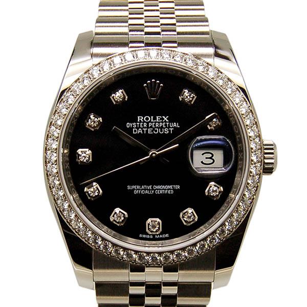 ロレックス ROLEX デイトジャスト Ref.116244G ダイヤモンド ブラック ランダム番 国内正規 未使用品