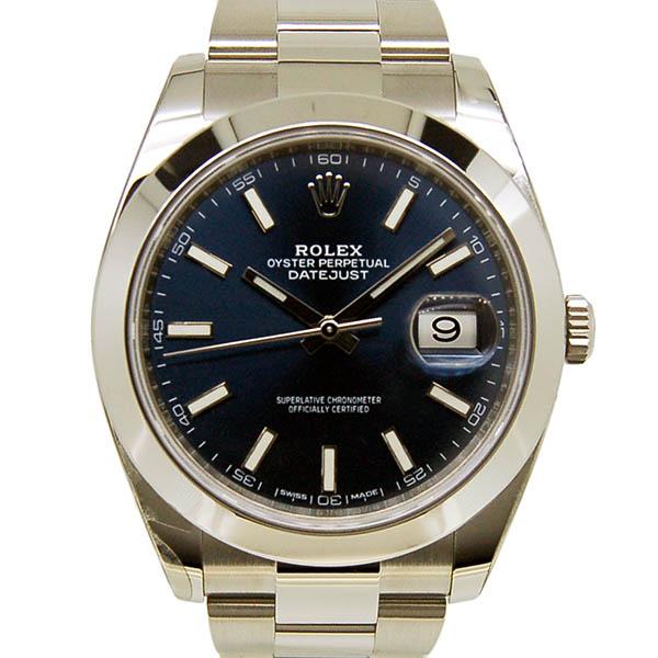 ロレックス ROLEX デイトジャスト41 126300 メンズ ブルー 未使用品