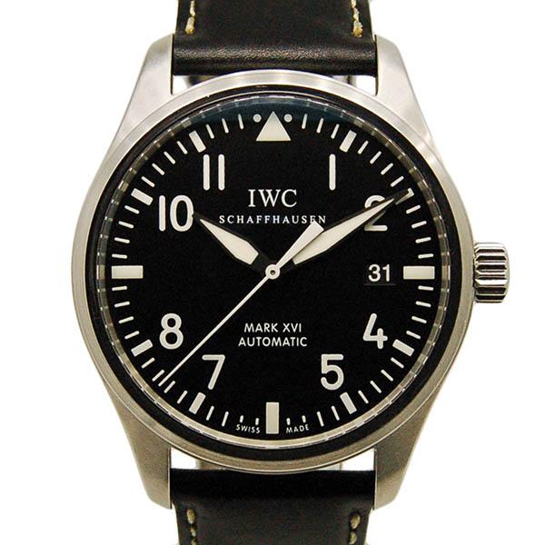 IWC インターナショナルウォッチカンパニー マーク16 IW325501 SS ブラック 革ベルト 自動巻 39mm USED 中古