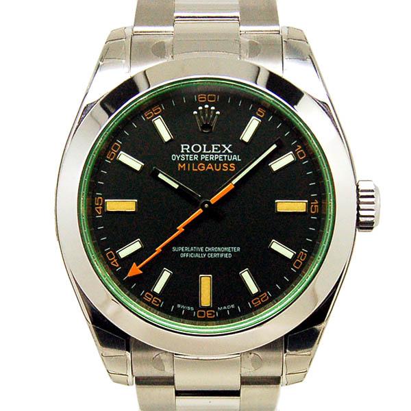 ロレックス ROLEX ミルガウス 116400GV グリーンガラス ブラック M番ルーレット 未使用品