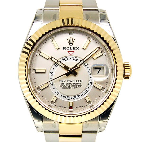 ロレックス ROLEX スカイドゥエラー 326933 SS×YG ホワイト 42mm 未使用品
