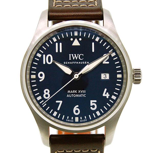 IWC パイロットウォッチ マーク18 プティ・プランス IW327004 ブルー 革ベルト 未使用品