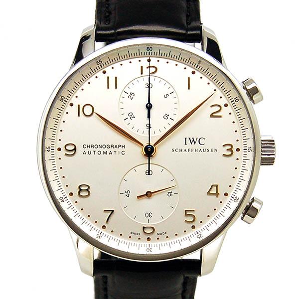 IWC インターナショナルウォッチカンパニー ポルトギーゼ IW371445 シルバー 金針 Dバックル 自動巻 41mm USED 中古