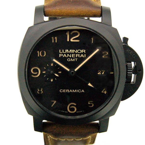 パネライ PANERAI ルミノール1950 3デイズ GMT セラミカ PAM00441 44mm USED 中古