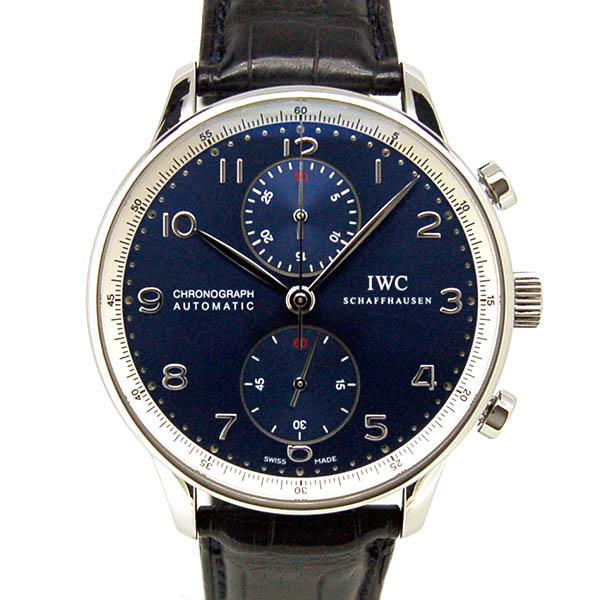 IWC ポルトギーゼ クロノグラフ ローレウス IW371432 ブルー 世界2000本限定 41mm USED 中古