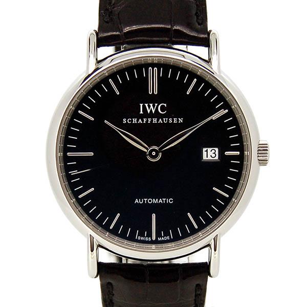IWC インターナショナルウォッチカンパニー ポートフィノ IW356305 自動巻 ブラック 39mm 革ベルト USED 中古