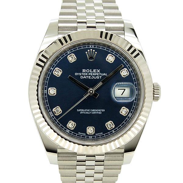 ロレックス ROLEX デイトジャスト41 126334G 10Pダイヤ ブルー 国内正規品 未使用品