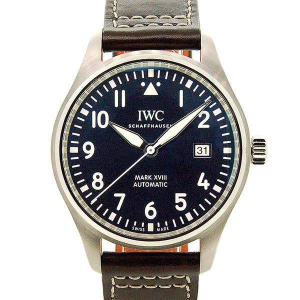 IWC パイロットウォッチ マーク18 プティ・プランス IW327004 ブルー 革ベルト 40mm USED 中古