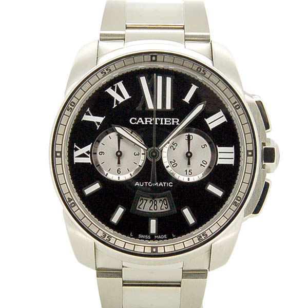 カルティエ CARTIER カリブル ドゥ カルティエ クロノグラフ W7100061 ブラック 42mm USED 中古