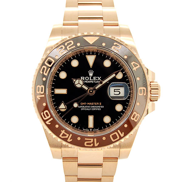 ロレックス ROLEX GMTマスター2 126715CHNR ブラウン/ブラックベゼル 40mm 18KERG USED 中古