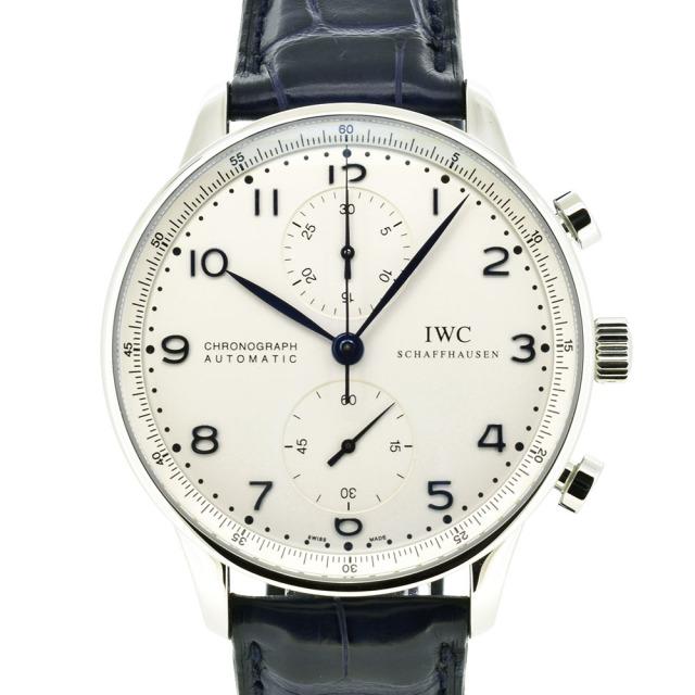 IWC インターナショナルウォッチカンパニー ポルトギーゼ クロノグラフ シルバー 青針 IW371417 自動巻 未使用品