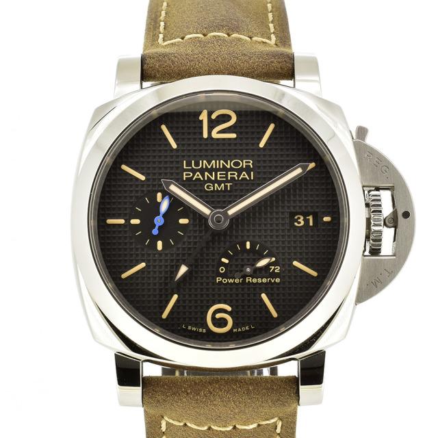 パネライ PANERAI ルミノール1950 3デイズ GMT パワーリザーブ アッチャイオ PAM01537 42mm USED 中古