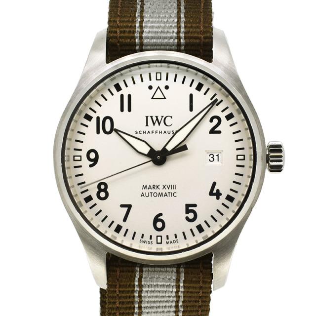 IWC パイロットウォッチ マーク18 IW327002 シルバー 40mm USED 中古