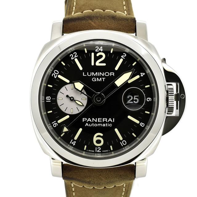 パネライ PANERAI ルミノールGMT アッチャイオ PAM01088 ブラック T番 44mm USED 中古