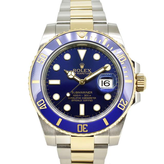 ロレックス ROLEX サブマリーナデイト Ref.116613LB ブルー SS×YG ランダム番 USED 中古