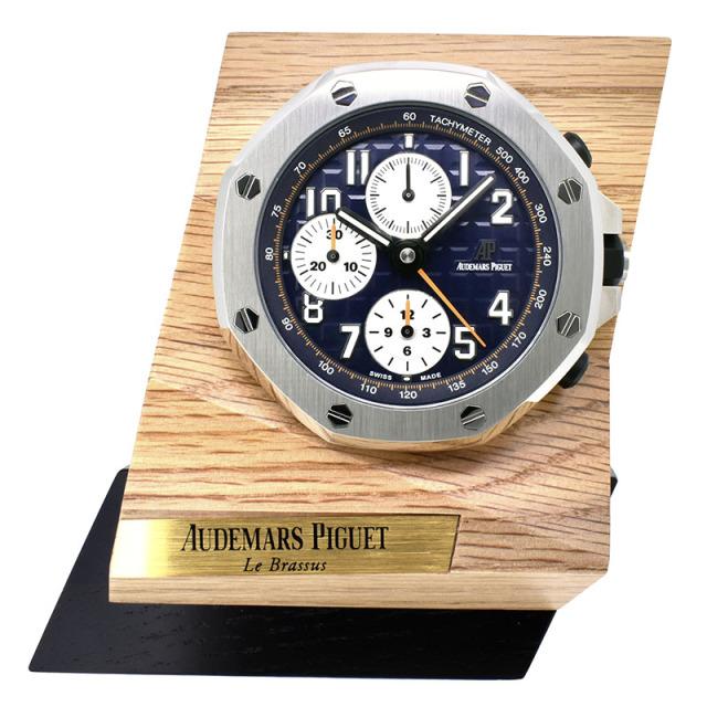 オーデマ・ピゲ AUDEMARS PIGUET ロイヤルオーク オフショア クロノグラフ テーブルクロック ノベルティ 65mm 置き時計 クォーツ 新品同様品