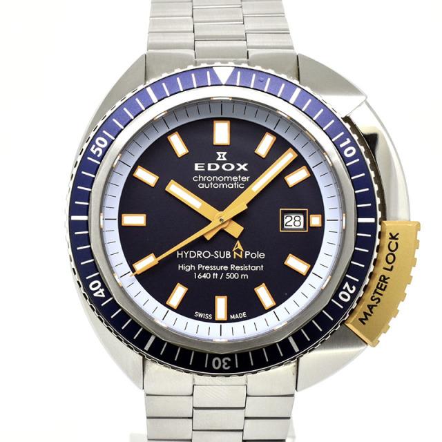 エドックス EDOX ハイドロサブ ノースポール リミテッドエディション 80201-3BUO-BU 46mm ブルー 世界350本限定 USED 中古