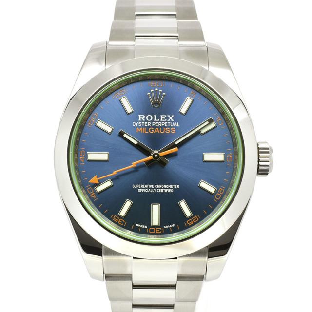 ロレックス ROLEX ミルガウス 116400GV Zブルー グリーンガラス 国内正規品 USED 中古