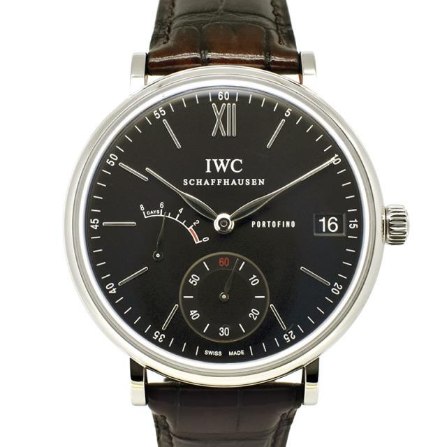 IWC ポートフィノ ハンドワインド 8デイズ IW510102 SS 45mm ブラック USED 中古