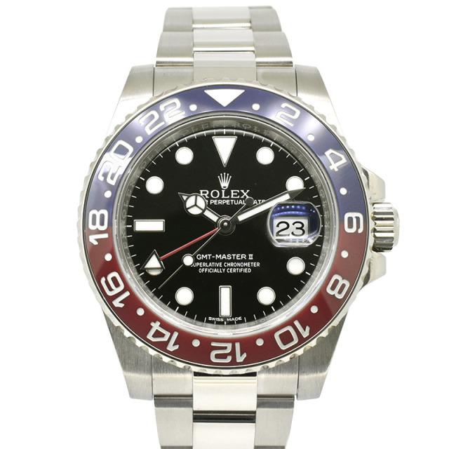 ロレックス ROLEX GMTマスター2 Ref.116719BLRO 18KWG 赤/青ベゼル ブラック 40mm USED 中古