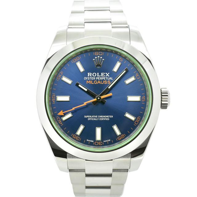ロレックス ROLEX ミルガウス 116400GV Zブルー グリーンガラス 国内正規品 未使用品
