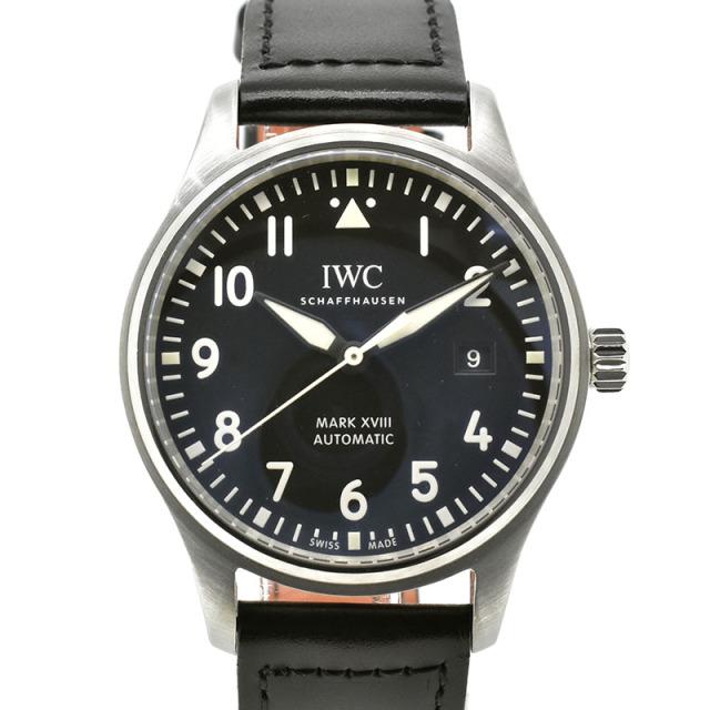 IWC パイロットウォッチ マーク18 IW327001 ブラック 革 40mm USED 中古