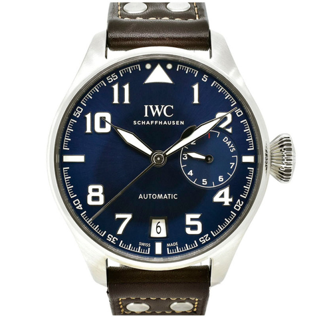 IWC ビッグパイロットウォッチ プティ・プランス IW500908 46.2mm ブルー 革ベルト 世界1000本限定 USED 中古