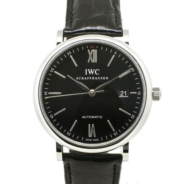 IWC ポートフィノ IW356502 SS 40mm ブラック 革ベルト USED 中古