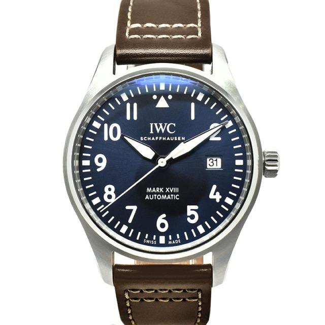 IWC パイロットウォッチ マーク18 プティ・プランス IW327010 ブルー 40mm USED 中古