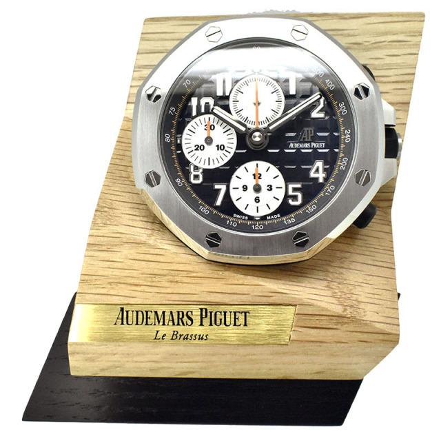 オーデマ・ピゲ AUDEMARS PIGUET ロイヤルオーク オフショア クロノグラフ テーブルクロック ノベルティ 65mm 置き時計 クォーツ 中古