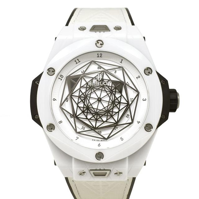 ウブロ HUBLOT ビッグバン ウニコ サンブルー セラミックホワイト 415.HX.2027.VR.MXM19 世界200本限定 45mm USED 中古