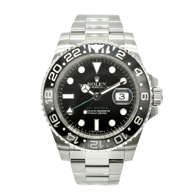 ロレックス ROLEX GMTマスター2 Ref.116710LN SS ブラック G番 USED 中古