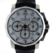 コルム CORUM アドミラルズカップ クロノグラフ 753.671.20 F371 AA52 44mm SS ホワイト 新品