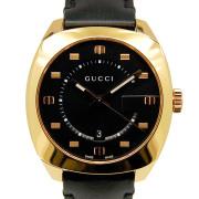 グッチ GUCCI GG2570 YA142309 40mm クォーツ ブラック 革ベルト 新品アウトレット