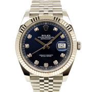 ロレックス ROLEX デイトジャスト41 126334G 10Pダイヤ ブルー USED 中古
