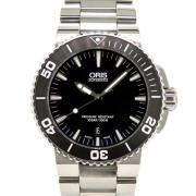 オリス ORIS アクイス デイト 733 7653 4154M ブラック 43mm USED 中古