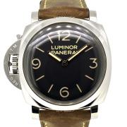 パネライ PANERAI ルミノール1950 3デイズ レフトハンド アッチャイオ PAM00557 SS 47mm 手巻き ブラック R番 USED 中古