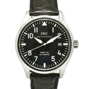 IWC マーク16 IW325501 SS ブラック 革ベルト 自動巻 39mm USED 中古