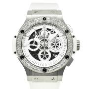 ウブロ HUBLOT アエロバン オールホワイト ダイヤモンド 311.SE.2010.RW.1104.JSM12 日本限定 44mm USED 中古