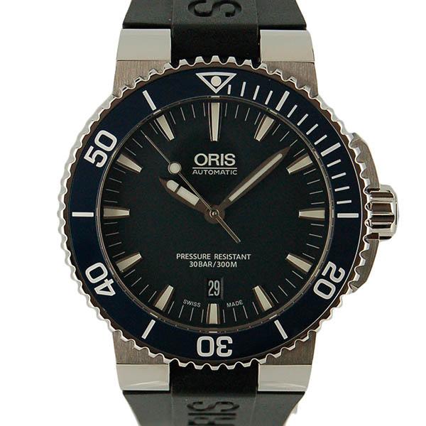 オリス ORIS アクイス デイト 733 7653 4155R SS 43mm ネイビー ブラックラバー 新品