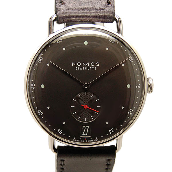 ノモス NOMOS メトロ 38 デイト MT1B4UG2 38mm 手巻き グレー 新品