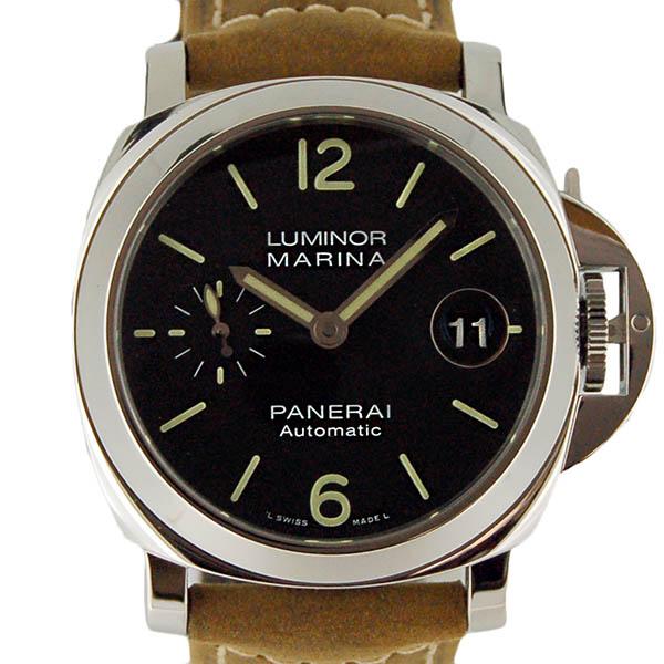 パネライ PANERAI ルミノールマリーナ PAM01048 40mm ブラック 革ベルト 新品