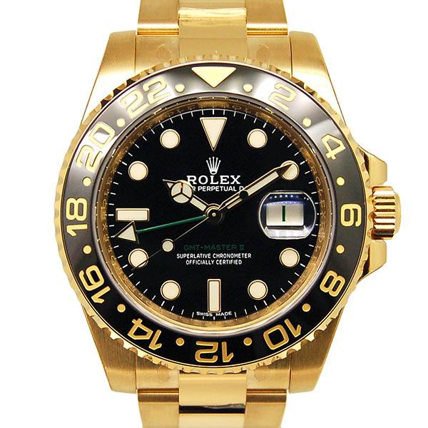 ロレックス ROLEX GMTマスター2 Ref.116718LN ブラック K18イエローゴールド 40mm 新品