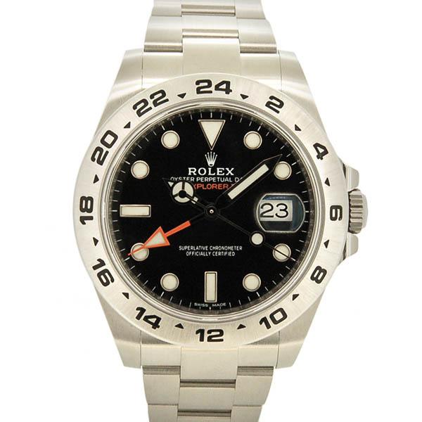 detailing ba60a c9647 ロレックス ROLEX エクスプローラー2 216570 ブラック GMT 新品